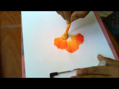 One Stroke Painting- Round Brush Painting Technique