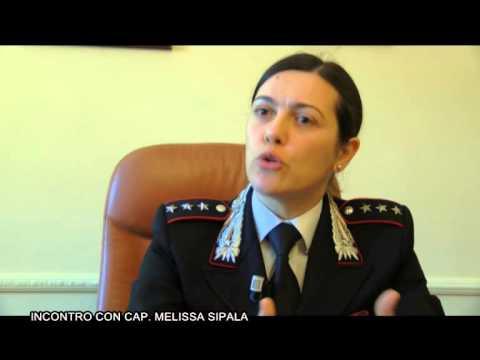 Incontro con il Cap. Melissa Sipala, Comandante Compagnia dei Carabinieri di Frascati