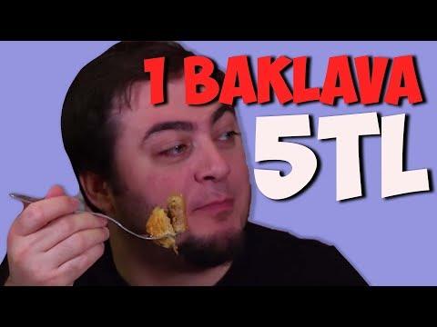 1 Baklava 5 TL - Yedikçe Para Kazan