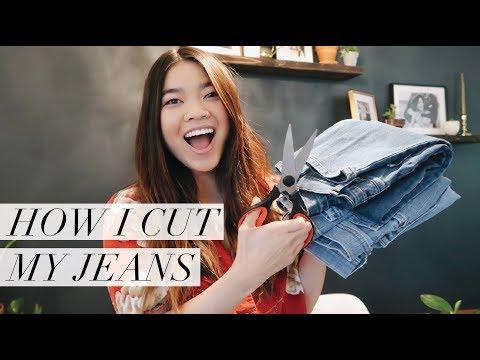 How I cut my jeans // by CHLOE WEN