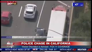 FAST POLICE CHASE: Suspect Out Of Control In California
