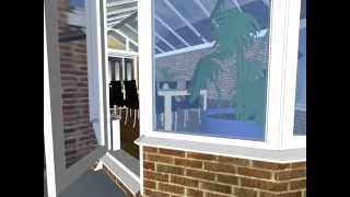 Victorian Conservatory With Unusual Over Door Canopy