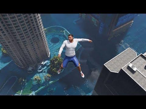 GTA 5 Epic Water Ragdolls Flooded Los Santos