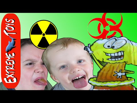 Toxic Waste Candy! Smog Balls, Zaps, and Toxic Barrels  Kids Candy Review