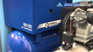видео Винтовой компрессор Remeza ВК15Е-8 (10/15) 500ДФ