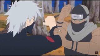 Kakashi's Badass Taijutsu Against Kakuzu and Hidan