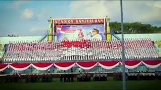 Nasionalism: Persembahan Spektakuler Anak Malang Untuk Hut RI Yang Ke 73 di Stadion Kanjuruhan