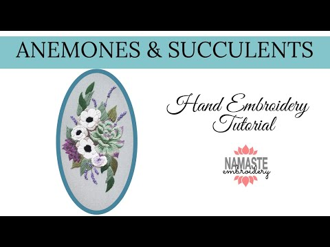 Anemones and Succulents Pattern Tutorial