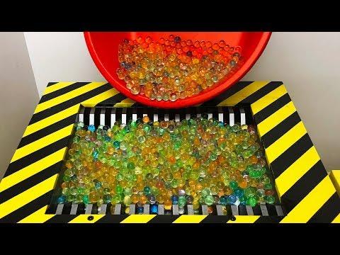 Experiment Shredding 1000 Orbeez Satisfying