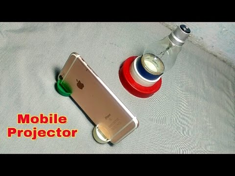 Best Home made Mobile projector in 2 minute