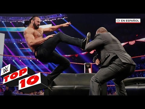 Top 10 Mejores Momentos De Raw En Español: WWE Top 10, Feb 10, 2020
