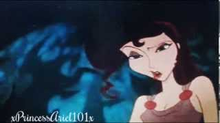 Rumple[Rothbart]&Regina[Meg] tell Ariel to go to Storybrooke - Once Upon a Time - Disney crossover