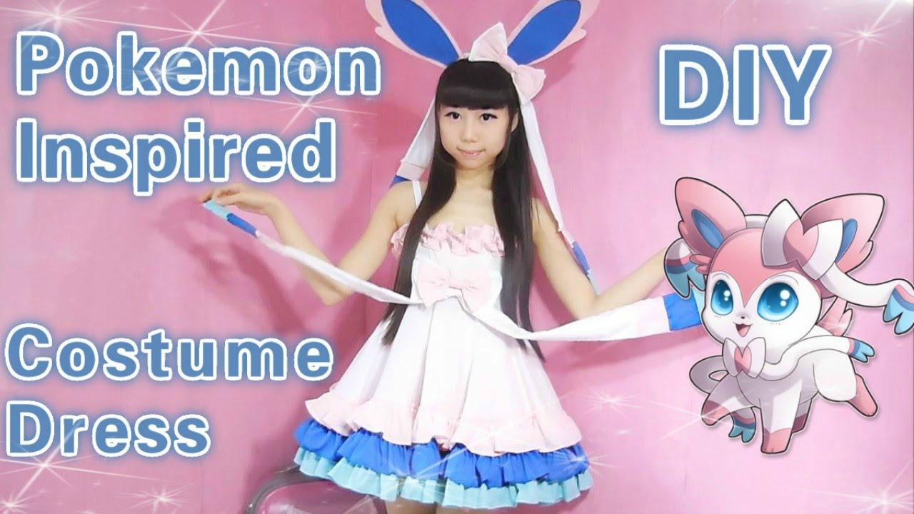 95557bc9 Cosplay DIY - Pokemon Sylveon Inspired Costume/Dress ( Easy) - YouTube