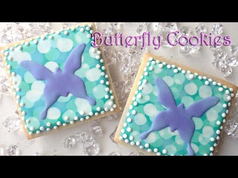 How To Decorate Butterfly Cookies (With Bokeh Background)!