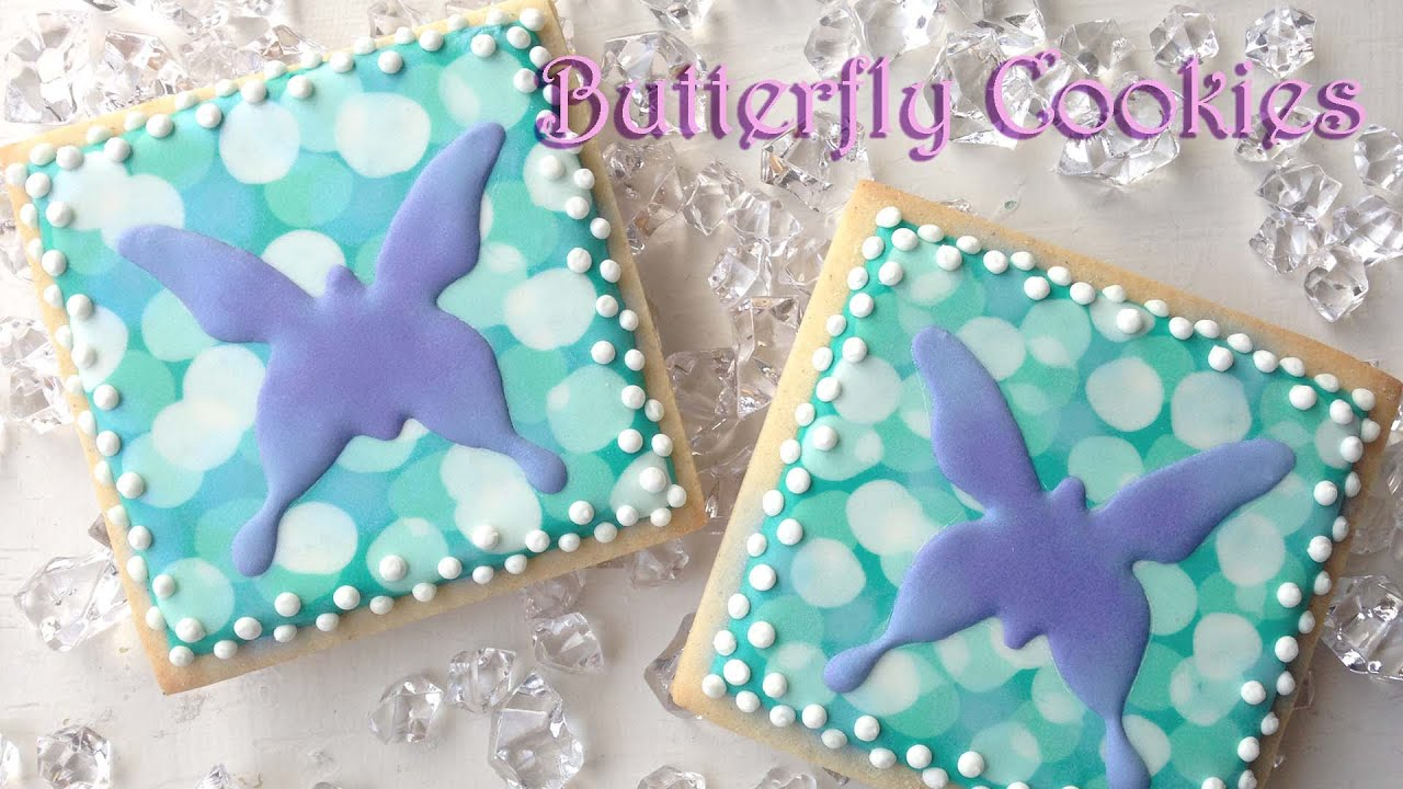 How To Decorate Butterfly Cookies (With Bokeh Background