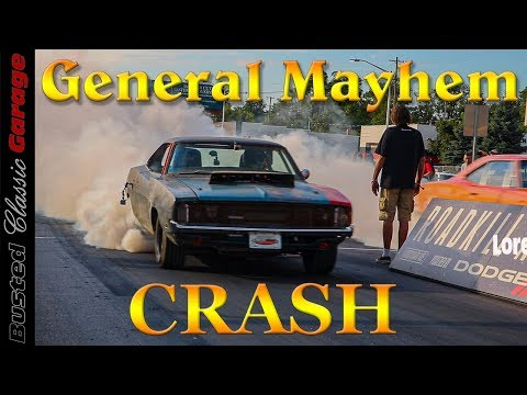 Mike Finnegan CRASHES General Mayhem at Roadkill Nights -  Hellcat powered Dodge Charger