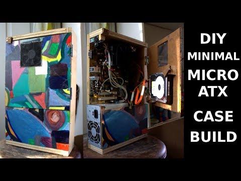 Diy minimal micro atx case build youtube