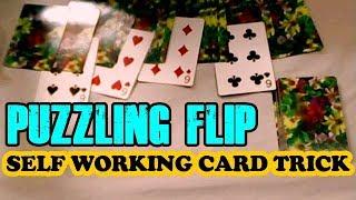 Puzzling Flip - Self Working Card Magic Trick - Performance & Tutorial In Hindi