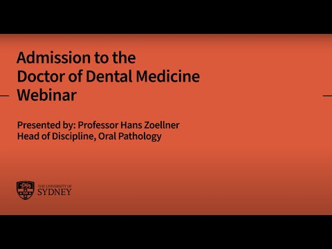Admission To The Doctor Of Dental Medicine: Webinar