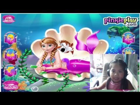 เกมส์แต่งตัวเจ้าหญิงนางเงือก Anna Mermaid Princess ♥mookmix♥
