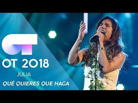"""""""QUÉ QUIERES QUE HAGA"""" - JULIA   Gala Eurovisión 2019   OT 2018"""