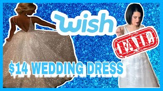 I Tried A $14 WEDDING DRESS On WISH