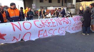 Genova, proteste no Green Pass: bloccato accesso al varco Etiopia in porto