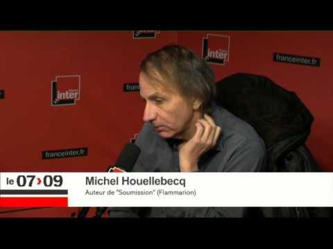 """Michel Houellebecq : """"Mon livre est une satire"""""""
