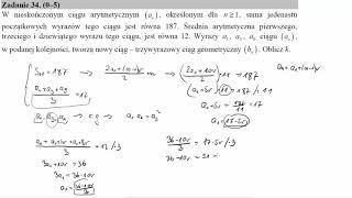 W nieskończonym ciągu arytmetycznym an, określonym dla n≥1, suma jedenastu początkowych wyrazów tego