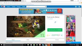 how to get free treelands beta on roblox JOKE!!