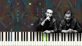 Galantis - Satisfied (feat. MAX): Synthesia Piano Tutorial