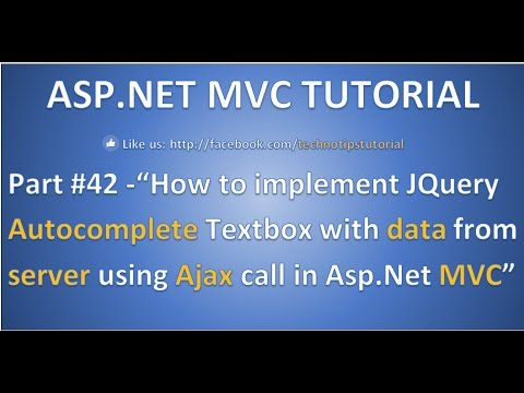 Part 42 - Implement Jquery Autocomplete Textbox with data from Server using  ajax in ASP NET MVC