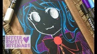 Chalk Drawing ✿ Anime/Manga Halloween Cat-Witch!