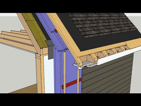 Roof Wall Insulation Retrofit Vented Roof Youtube