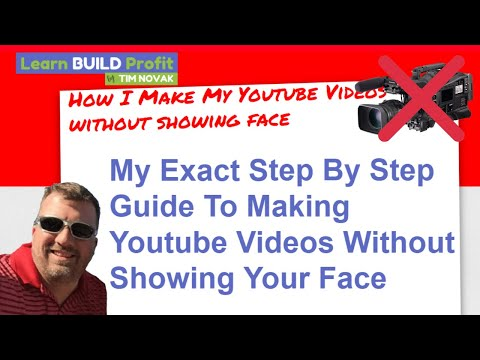 How To Make YouTube Videos Without Being On Camera - Faceless Youtube Videos