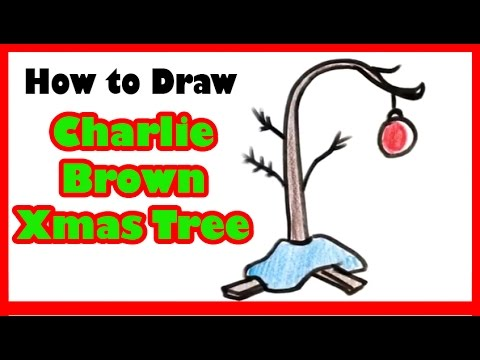 How To Draw Charlie Browns Christmas Tree Christmas Drawings Youtube