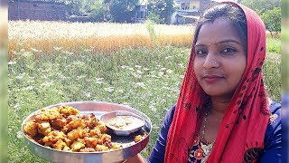 VILLAGE PAKORA RECIPE IN HINDI | INDIAN VILLAGE FOOD RECIPE | BEST INDIAN FOOD COOKING