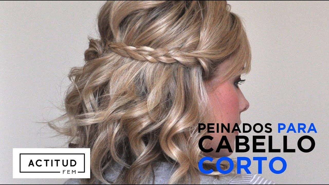 Peinados Faciles Para Chicas Con Cabello Corto Actitudfem Youtube