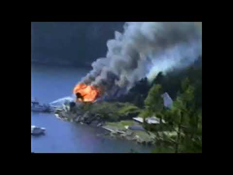 Footage Found! House Fire in Drøbak, Norway Raw Footage - Hus brann i Drøbak, Norge rå opptak