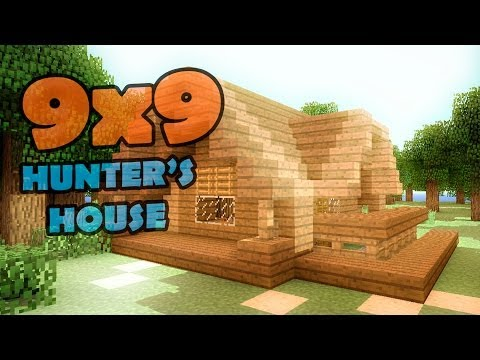 Minecraft 9x9 house - дом охотника.