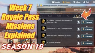 Week 7 Royale Pass Missions Explained PUBG Mobile Season 10   Week 7 rp Missions Pubg Season 10