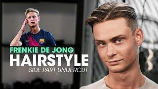 Frenkie de Jong Hairstyle   Side Part Undercut   Men's Hair Inspiration