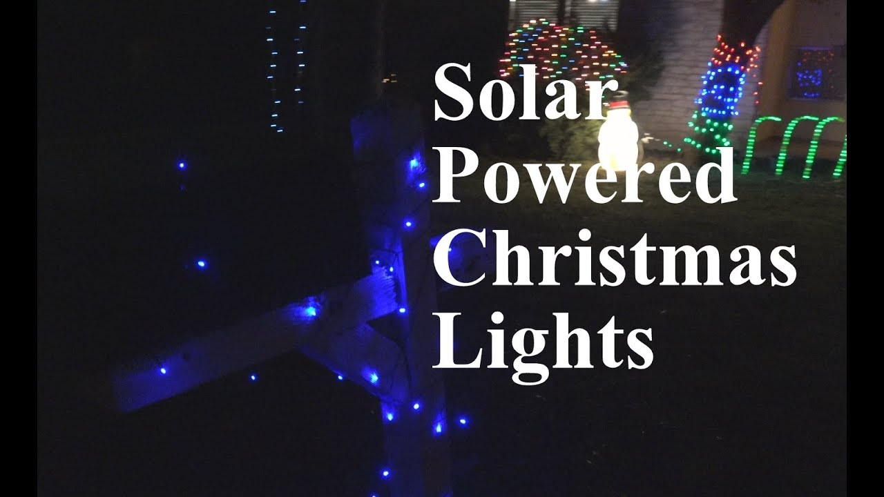 Solar Powered Christmas Lights.Solar Powered Christmas Lights Review Part 2 Epicreviewguys In 4k