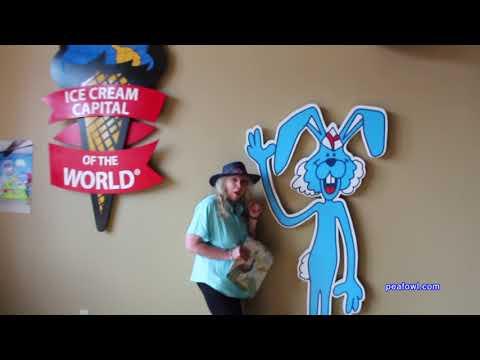 Blue Bunny Ice Cream Shop, Le Mars, Ia. Travel USA, Mr. Peacock & Friends, Hidden Treasures