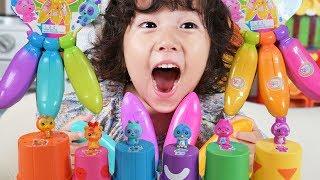 바나나  장난감 열어보고 색깔 배우기 | BANANAS…