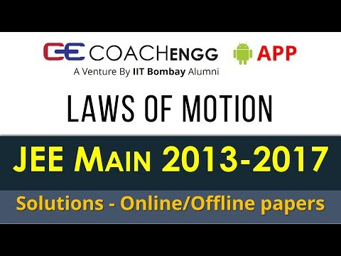 JEE Main Problems | Laws of Motion | 2013 to 2017 | Chapterwise Solutions by Rohit Dahiya
