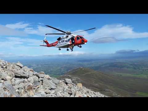 Irish Coast Guard rescue on Croagh Patrick