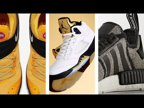 "Jordan 5 ""Metallic Gold"", NEW adidas NMD, Kyrie 2 ""School Bus"" and more on Today In Sneaks"