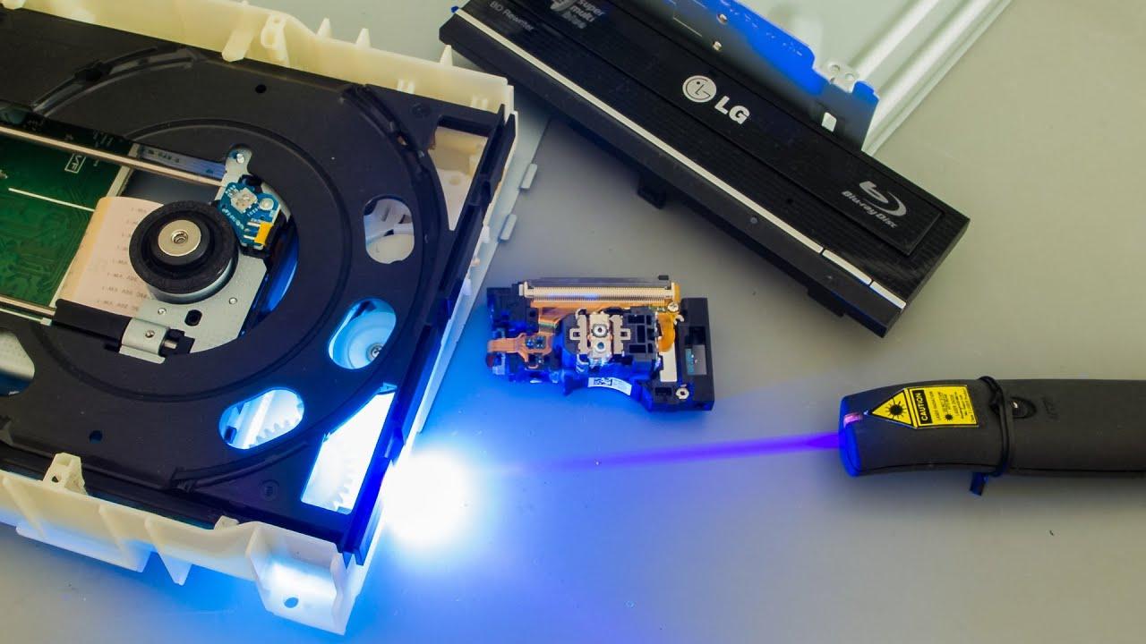 24 blu-ray laserpointer aus einem brenner - youtube