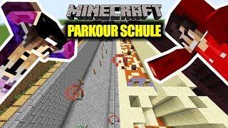 Minecraft: Kaan vs Nina PARKOUR SCHULE! Bis zur welchen Klasse schaffen wir es? Parkour School Noobs